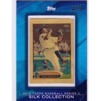 JOSE VALVERDE 2012 Topps Silk Collection #18 Framed Mini Series 1 Card 24/50