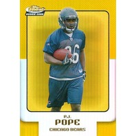 P.J. POPE 2006 Topps Finest Gold Refractor Rookie Parallel Card #51  9/49