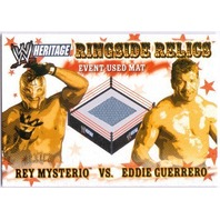 REY MYSTERIO EDDIE GUERRERO 2005 Topps Heritage WWE Ringside Relics Mat Card