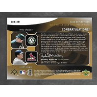 ERIC CHAVEZ/SCOTT ROLEN 2005 UD Reflections Cut From Same Cloth auto patch 1/25