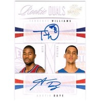 AUSTIN DAYE TERRENCE WILLIAMS 2009-10 Season Update Rookie Dual Auto Card 95/99