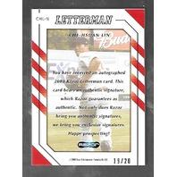 CHE-HSUAN LIN 2008 Razor Letterman auto patch /20 autograph Red Sox