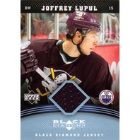 JOFFREY LUPUL 2006-07 Black Diamond Game Used Jersey Card Ducks Oilers #JJL