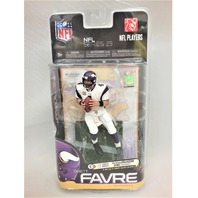 2010 Brett Favre Variant McFarlane Figure White Jersey Series 23 Minnesota Vikings Bronze Collector Level NFL