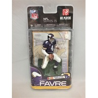 2010 Brett Favre McFarlane's Sportspicks Figure NFL Series 25 Minnesota Vikings Going Retro Special Edition Vikings Vintage Uniform