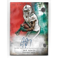 JAY AJAYI 2015 Topps Inception Orange RC auto /50 Miami Dolphins