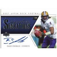 ISAIAH STANBACK 2007 Upper Deck Signature Sensations Rookie Autograph Card auto