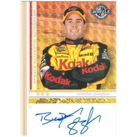 BRENDAN GAUGHAN 2004 Wheels Autographs Nextel Series Rookie Auto On Card #22
