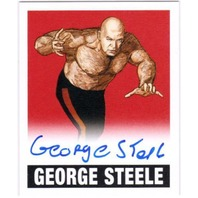 GEORGE STEELE 2012 Leaf Originals Wrestling Alternate Art Red #AGS1 4/5 Auto