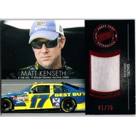 MATT KENSETH 2012 Press Pass Redline Relics Red Race Used Gloves 41/75 #RLMK
