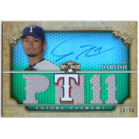 YU DARVISH 2013 Topps Triple Threads Jersey Auto Card /99 Signed