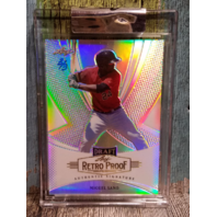 Miguel Sano Leaf Retro Proof SSP refractor 2013 3/3 hand numbered