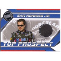 SAM HORNISH 2007 Press Pass Top Prospect Silver Rookie Race Used Tire Card /250