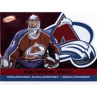 PATRICK ROY 2001-02 Pacific Atomic Red Parallel Card 193/290 Colorado Avalanche