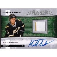 MATT NISKANEN 2007-08 Hot Prospects #207 Jersey Patch Auto Rookie Card RC