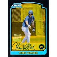 CHRIS LUBANSKI 2003 Bowman Chrome Draft Gold Refractor Rookie Auto Print Run 50