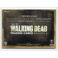 Maggie Greene 2012 Cryptozoic Walking Dead season 2 Wardrobe Card M23 Purple Top