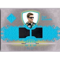 CARL EDWARDS 2012 Total Memorabilia Dual Swatch Holofoil 2/25 Race Firesuit Shoe
