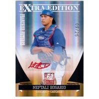 NEFTALI ROSARIO 2011 Elite Extra Edition Red Ink 9/25 Rookie Autograph Card Auto