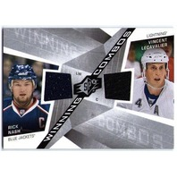 RICK NASH VINCENT LECAVALIER 2008-09 08/09 SPx Winning Combos Game Jersey Card