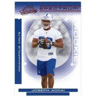 JOSEPH ADDAI 2006 Absolute Memorabilia RED SPECTRUM Rookie Parallel Card #152