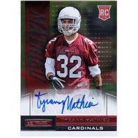 TYRANN MATHIEU Rookies & Stars Longevity R&S Rookie Auto Card RC #196