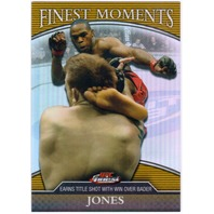 JON JONES 2011 UFC 126 Finest Moments Gold /88 Refractor Card Kicking Ryan Bader