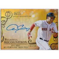 ALLEN CRAIG 2015 Topps Tribute Rightful Recognition Auto Gold #NOWAC /25