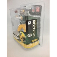 2011 Aaron Rodgers McFarlane's Sportspicks Figure Green Jersey NFL Series 27 Green Bay Packers