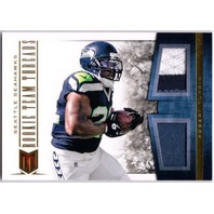 ROBERT TURBIN 2012 Momentum Rookie Team Threads Dual Prime Jersey Patch 25/49