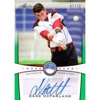 DANE MCFARLAND 2013 Leaf Power Showcase Autographs Green 2/10 Rookie Auto Card