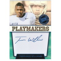 TERRANCE WILLIAMS 2013 Press Pass Playmakers Blue Rookie Auto On Card 47/50
