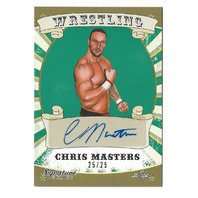 Chris Masters 2016 Leaf Signature Series Wrestling Autographed Card 25 / 25