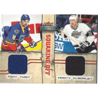 Tony Twist Marty McSorley Squaring Off Fleer Throwbacks Hockey Relic Jersey Card