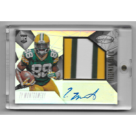 Ty Montgomery 2015 Packers  Auto RC Rookie Panini Certified Freshman Fabric /799