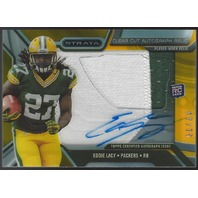 EDDIE LACY 2013 Topps Strata 2 Color Jersey swatch auto /75