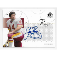 John Riggins 2002 Upper Deck SP Authentic Sign Times #ST-JR Auto autograph