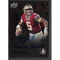 JAMEIS WINSTON 2015 Upper Deck Inscriptions Rookie Autograph auto RC