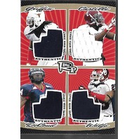 GRIFFIN/CASTILLE/DeCOUD/WOLFE 2008 Topps Rookie Progression quad patch/10 swatch