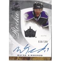 Wayne Simmonds 2008-09 The Cup #65 Autograph /199 LA Kings Auto