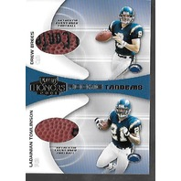 DREW BREES 2001 Playoff Honors Rookie Tandems Football swatch #RT-3 swatch