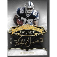 FELIX JONES 2008 Upper Deck Exquisite Collection Autograph /25 Dallas Cowboys