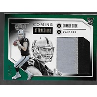 Connor Cook 2016 Panini Gala Coming Attractions swatch Green /25 2 colors