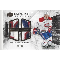 2015-16 Exquisite Collection Rookie Quad Jerseys #R4JR Jacob de la Rose