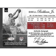 Odell Beckham Jr 2014 SAGE Authentic auto /99 WR New York Giants