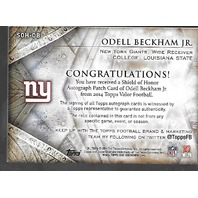 Odell Beckham Jr 2014 Topps Courage auto patch RC /50 WR New York Giants