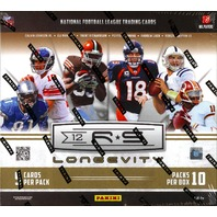 2012 Panini Rookies & Stars Longevity Football Box (R&S)(Sealed)