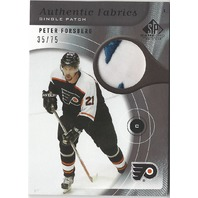 Philadelphia Flyers Peter Forsberg Authentic Game Used Patch Card /75