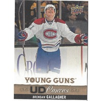 Brendan Gallagher 2013-14 Upper Deck S1 Young Guns UD Canvas Canadians 13/14