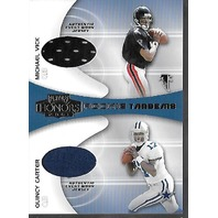 MICHAEL VICK Quincy Carter 2001 Playoff Honors Rookie Tandems Dual Jersey RT-1